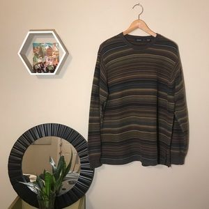 90s vintage style striped sweater 100% cotton